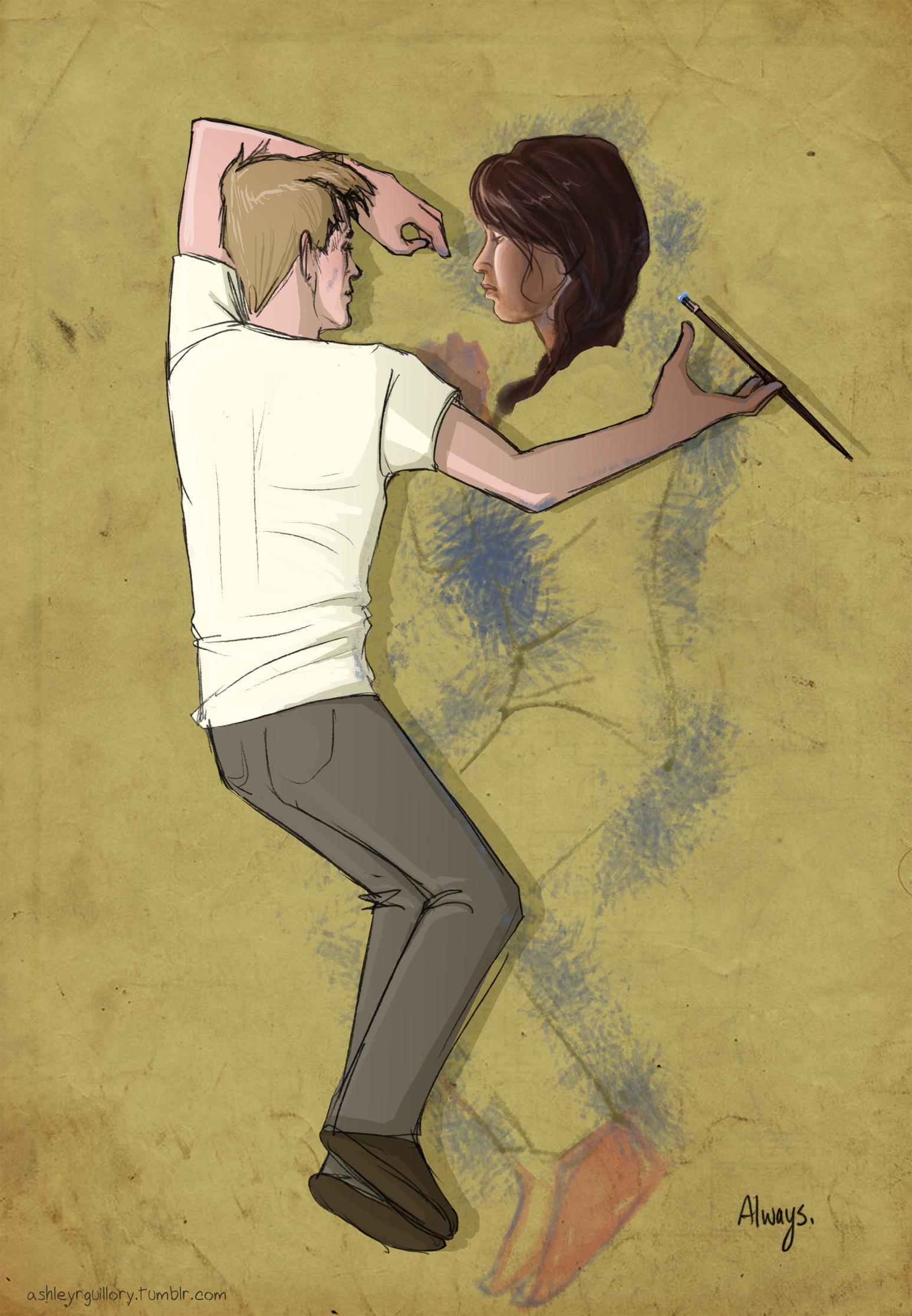 Hunger Games Fan Art Katniss And Peeta Mostly been drawing Hu...